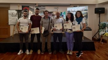 Julián Maroto, primer premio de la X edición del Certamen de Pintura Rápida Villa de Móstoles