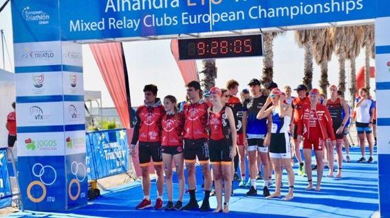Mostoleños en el Campeonato de Europa de Triatlón relevos mixtos