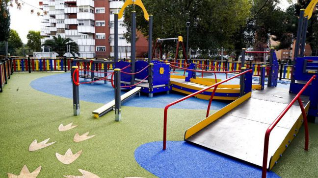 Primer parque infantil inclusivo completo en Móstoles