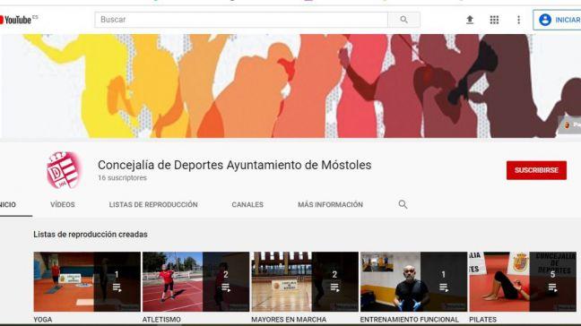 Móstoles ofrece programas de entrenamiento virtual durante la desescalada