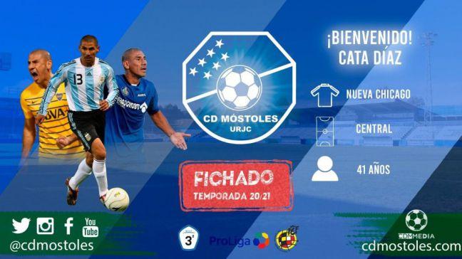 Nuevo jugador del CD Móstoles: Cata Díaz