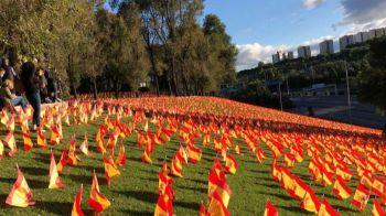 Aparecen 53.000 banderas de España en recuerdo a las víctimas del Covid-19 en Madrid