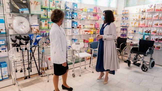 Ayuso pide a Europa que valide los test COVID-19 en las farmacias