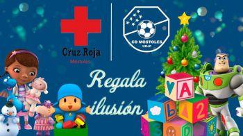 El CD Móstoles y Cruz Roja unen fuerzas para llevar juguetes esta Navidad a los más necesitados