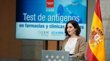 Test de antígenos gratis en farmacias y clínicas dentales en zonas de alta incidencia