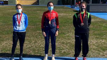 Tres atletas mostoleños participaron en el Campeonato de Madrid de Marcha