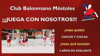 El Club Balonmano Móstoles busca nuevos jugadores