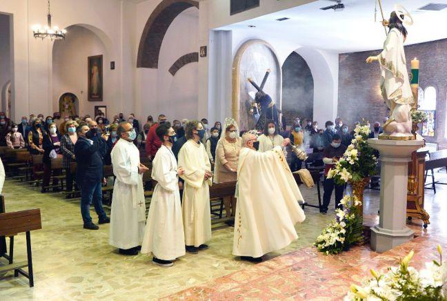 La Semana Santa de Móstoles cierra con oficios religiosos sin procesiones por la COVID-19