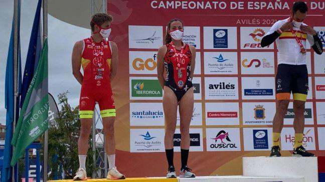 María Varo del Tri Infinity Móstoles subcampeona del Campeonato de España de Duatlón Sprint