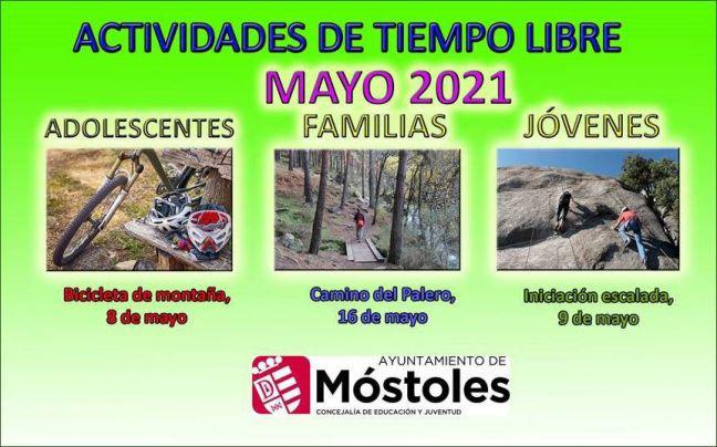Bicicleta de montaña, escalada en roca o ruta de senderismo, propuestas en Móstoles para mayo