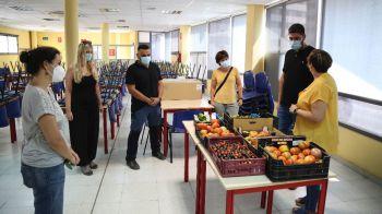 El Laboratorio de Agricultura Abierta de Móstoles dona parte de su cosecha al Restaurante Municipal