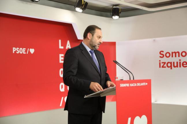 """Ábalos: """"Negar al PSOE la opción de formar Gobierno supone boicotear los resultados de las urnas"""""""