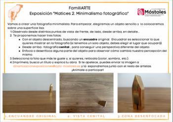 FamiliARTE vuelve con una guía online sobre la exposición 'Matices 2'