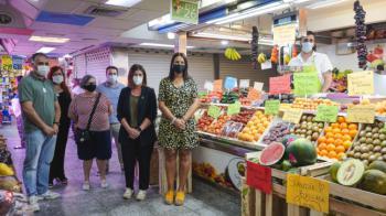 Noelia Posse muestra su apoyo a los comerciantes de Móstoles