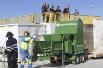 Móstoles cuenta con una nueva planta de recuperación y tratamiento de residuos vegetales