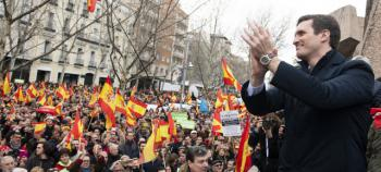 """Pablo Casado proclama que """"el tiempo de gobierno de Sánchez ya ha acabado"""""""